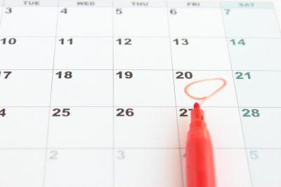 カレンダーにチェックを入れる