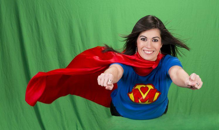 スーパーマンの衣装を着たM女