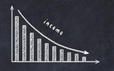 収入が減っている様子