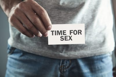 セックスの時間を象徴するイメージ