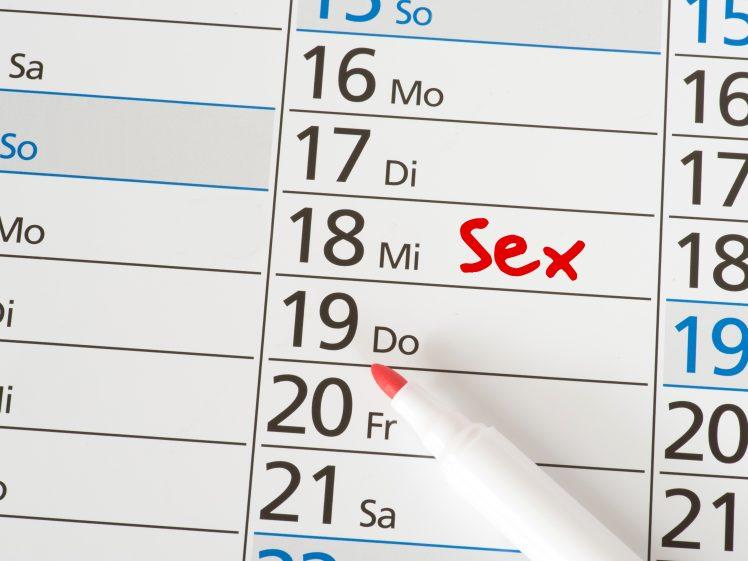 カレンダーにSEXをする日を記入