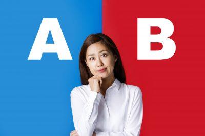 AとB 選択 女性