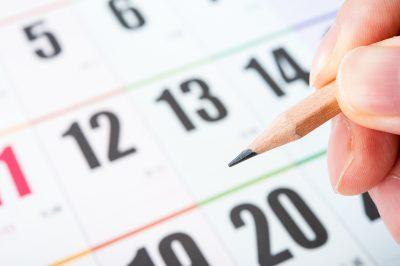 カレンダーに日程を記入する
