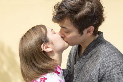 お祭りでのキス