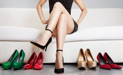 女性らしい磨きあげられた脚