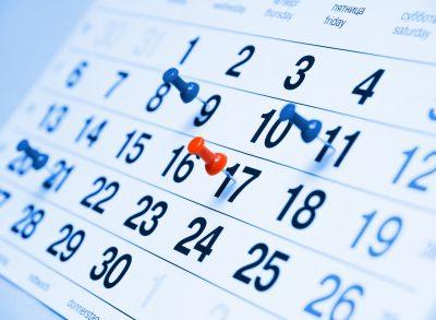 オナニーの頻度をカレンダーに記す