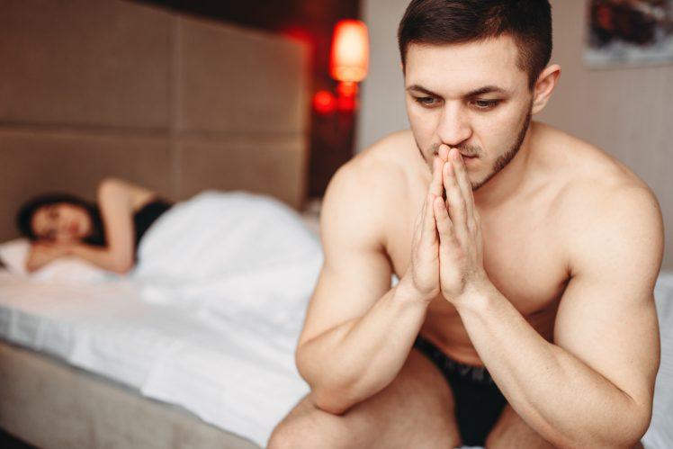 膣内射精障害で悩む男